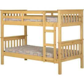 BRAND NEW + Complete + Boxed: Sturdy Bunk Bed in Oak