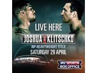JOSHUA VS KLITSCHKO BOXING