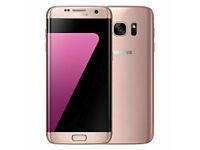 SAMSUNG GALAXY S7 EDGE 32GB PINK GOLD PLATINUM UNLOCKED - IMMACULATE CONDITION
