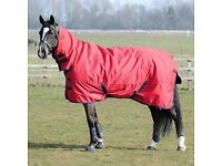 6ft9 red heavy weight turnout rug
