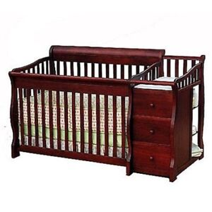 Sorelle Tuscany 4-in-1 Convertible Crib and Changer Set
