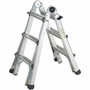 COSCO 13 ft. Reach Aluminum Telescoping Multi-Position Ladder