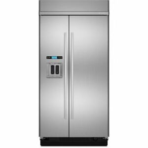 "JENN-AIR 42"" BUILT-IN STAINLESS STEEL SIDE-BY-SIDE REFRIGERATOR"