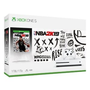 XBOX ONE S NBA2K19 BUNDLE 4K HDR 1 TB BRAND NEW SEALED