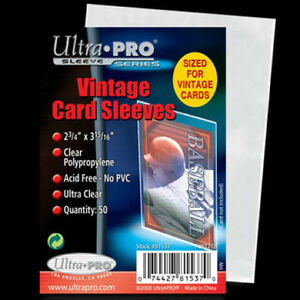 ULTRA PRO .... CARD SLEEVES .... VINTAGE .... package of 50