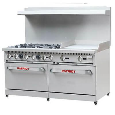 Patriot 6-burner Natural Gas Range With 24 Griddle 60w