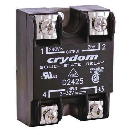 CRYDOM D2425 Solid State Relay,3 to 32VDC,25A