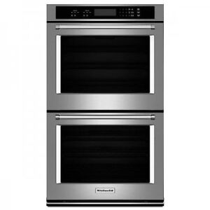 "KITCHENAID 27"" DOUBLE WALL OVEN WITH EVEN-HEAT™ THERMAL BAKE/BRO"