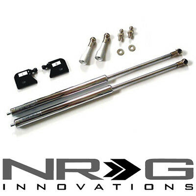 NRG Hood Damper Kit - Polished Stainless Steel (2000-2007 Honda S2000) AP1 AP2 - Nrg Hood Damper Kit