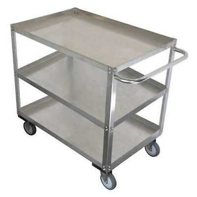 Zoro Select 11a455 Stainless Steel Unassembled Utility Cart 1200 Lb. Capacity