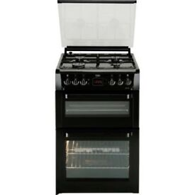(ex display) Beko BDVG697KP Double Oven 60cm Gas Cooker - Black