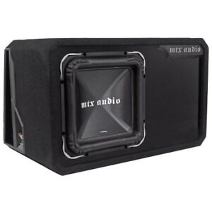 "Mtx square ts85 12"" sub and ported mtx box"