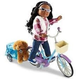 NEW: NEWBERRY Doll Bike And Pet Trailer-$35, Puppy Set-$25