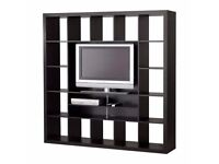 ** MUST GO ** EXPEDIT TV unit (black-brown) - storage/bookcase/tv - (same as current KALLAX)