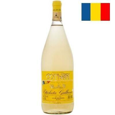 """Wein Cotnari weiß """"ETICHETA GALBINA"""" 11% Weißwein Romania Wino Вино Белое 1,5L"""