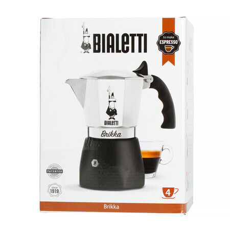 Bialetti Brikka 4 Cups Coffee ExpressO MAKER STAINLESS STEEL