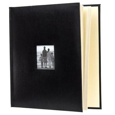 Adorama Photo Album,Leatherette,Holds 500 4x6, Black #638280
