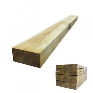 Railway Sleepers Tanalised Treated Timber 2.4m 200mm x 100mm (8'x8