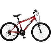 "24"" Mongoose Frontier Men's Mountain Bike, Red"