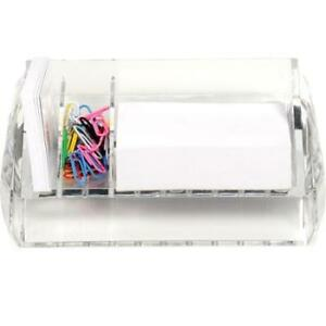 Swingline Acrylic Memo/Paper Clip Holder-New in Box + Lot $5
