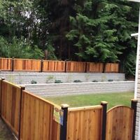 Cedar fence panels installation free estimates call today