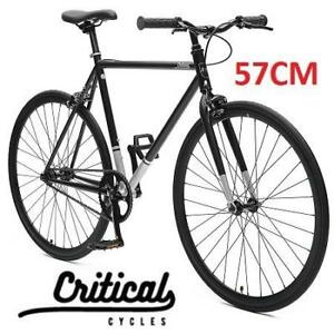 NEW CRITICAL CYCLE FIXIE BIKE 57CM 2308 186225555 SINGLE-SPEED COMMUTER HARPER COASTER MATTE BLACK LARGE LG