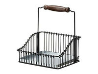 IKEA FINTORP - Wire basket with handle, black - 20x19x23 cm