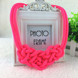 BRAND NEW Neon Pink Knotted Rope Necklace Kitchener / Waterloo Kitchener Area image 3
