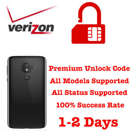 MOTOROLA VERIZON E4 E5 PLAY GO E6 MOTO G4 G5 G6 G7 POWER UNLOCK CODE SERVICE