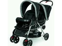 Mothercare double pram, double pushchair,double buggies for babies