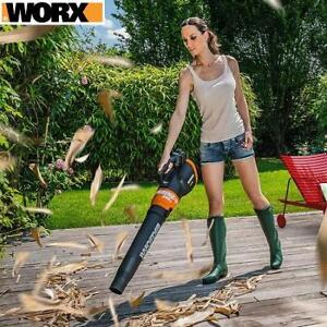 NEW WORX 20V CORDLESS BLOWER WG546 220083730 SWEEPER 340CFM AXIAL FAN W/BATTERY  CHARGER