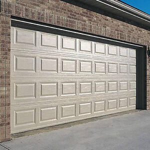 8x7 Steel Garage Door + Hardware + Installation + Warranty