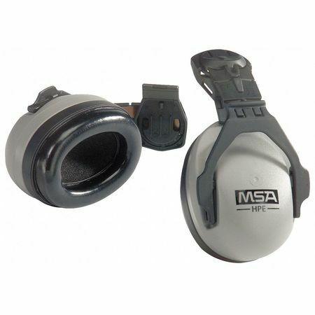 Msa 10061272 Hard Hat Mounted Ear Muffs, 27 Db, Hpe Sound Control, Gray