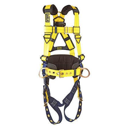 3M DBI-SALA 1101656 Delta Construction Style Positioning Harness, Yellow, XL