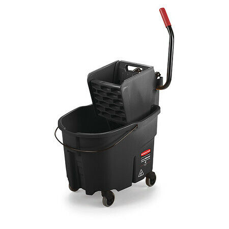 Rubbermaid 1863896 Mop Bucket And Wringer,8-3/4 Gal.,Black