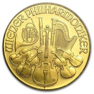 Pièce or philharmonic/bullion gold 1992 1/10 oz 9999