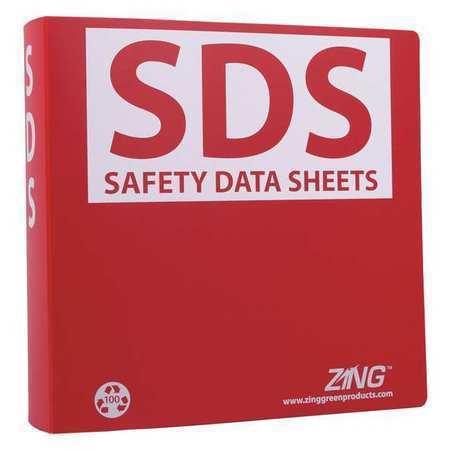 ZING 6031 GHS SDS Binder,2-1/2 in.