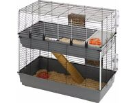 Rabbit 120 Double is a spacious rabbit hutch divided into two levels.