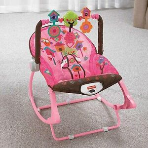 Fisher price pink owl chair