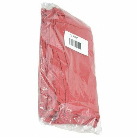 """Zoro Select 21820 New Cotton Shop Towels 12"""" X 12"""", Red, 25Pk"""