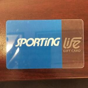 Sporting life gift card $395.48 selling for $370 cash only