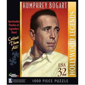 NEW 1000 PCE Humphrey Bogart Postage Stamp Jigsaw Puzzle