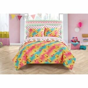 NEW: Emoji Pals fitted/flat sheet & comforter set (FULL SIZE)