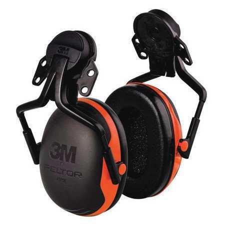 3M X1p5e Hard Hat Mounted Ear Muffs, 21 Db, Peltor X1, Orange
