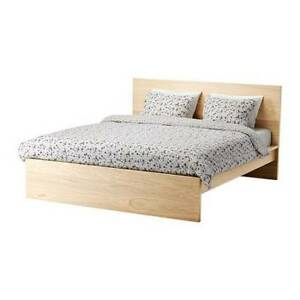 Ikea Double Size bed frame, mattre and nightstand - $360