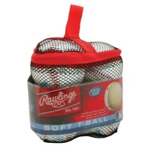 NEW, Rawlings, in package 6 soft Tball baseballs