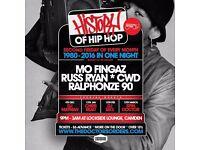 History of Hip-Hop @ Lockside Camden, London