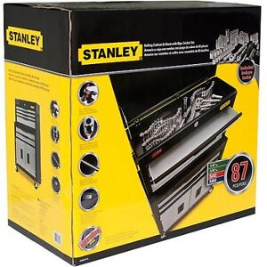 New Stanley Rolling Tool Chest&Cabinet Combo w 85pc tools option