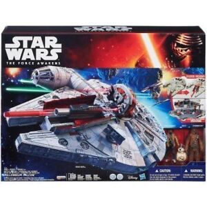 NEW Star Wars Millennium Falcons with 3 x Act figures for sell