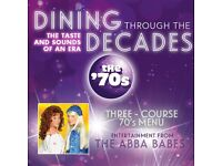 DINING THROUGH THE DECADES - 70S